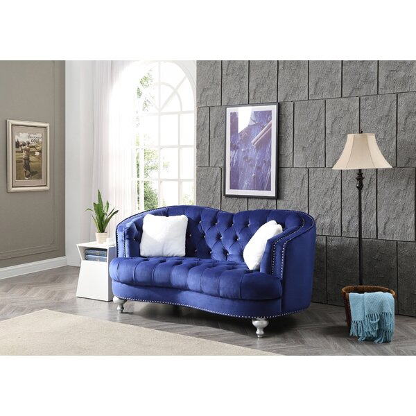 Beautiful Classy Shorehamby Chesterfield Loveseat by Everly Quinn by Everly Quinn