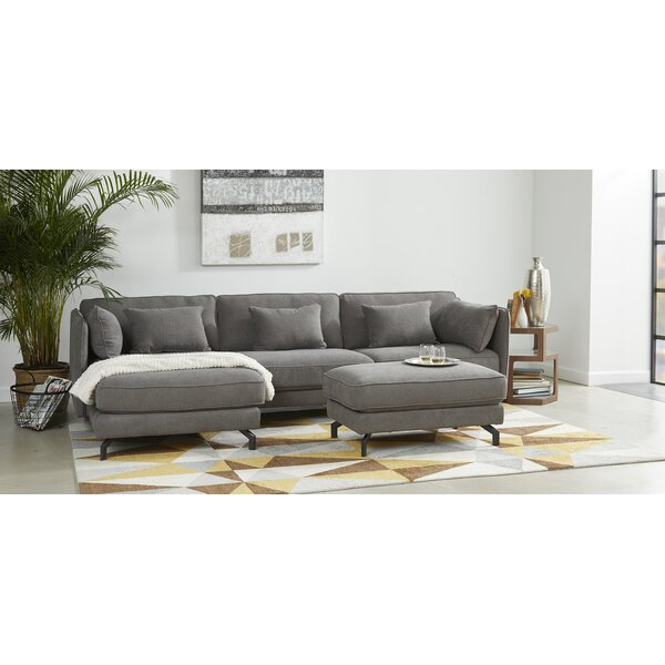 Jaxxon Two Piece Sectional with Ottoman by Union Rustic