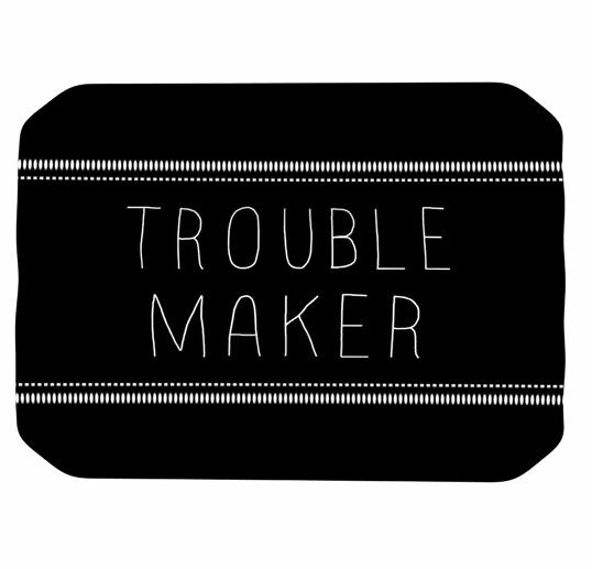 Trouble Maker Placemat by KESS InHouse