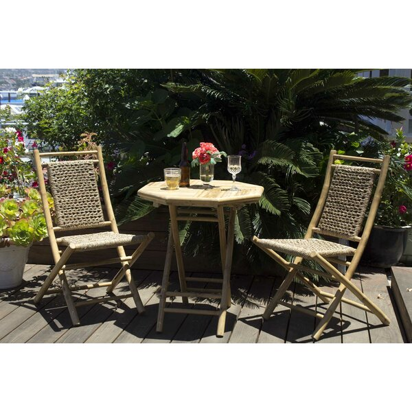 Entrada 3 Piece Indoor/Outdoor Bistro Set by Bay Isle Home