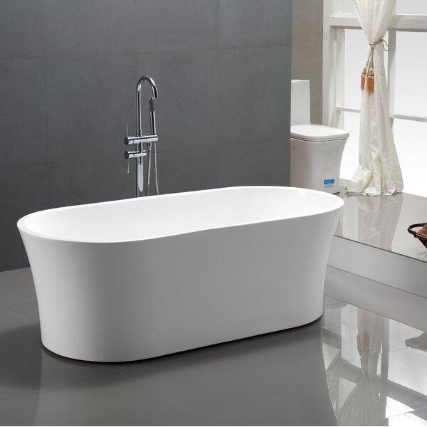 63 x 29.5 Freestanding Soaking Bathtub by Vanity Art