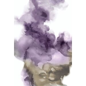 'Derive in Amethyst I' Painting Print on Wrapped Canvas by Zipcode Design