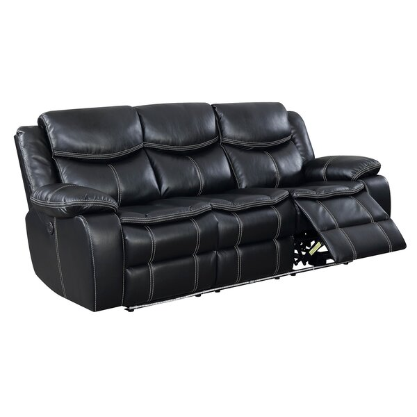 Helfer Contemporary Sofa Leather Power Wall Hugger Recliner [Red Barrel Studio]