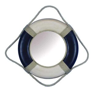 Handcrafted Nautical Decor Life Ring Accent Mirror