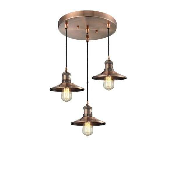 Mikesell 3-Light Cluster Pendant by Williston Forge