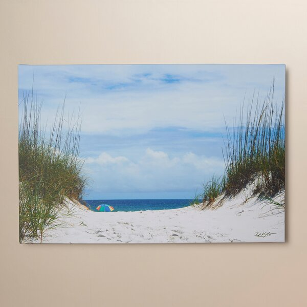 Ocean Path Photo Graphic Print on Canvas by Beachcrest Home