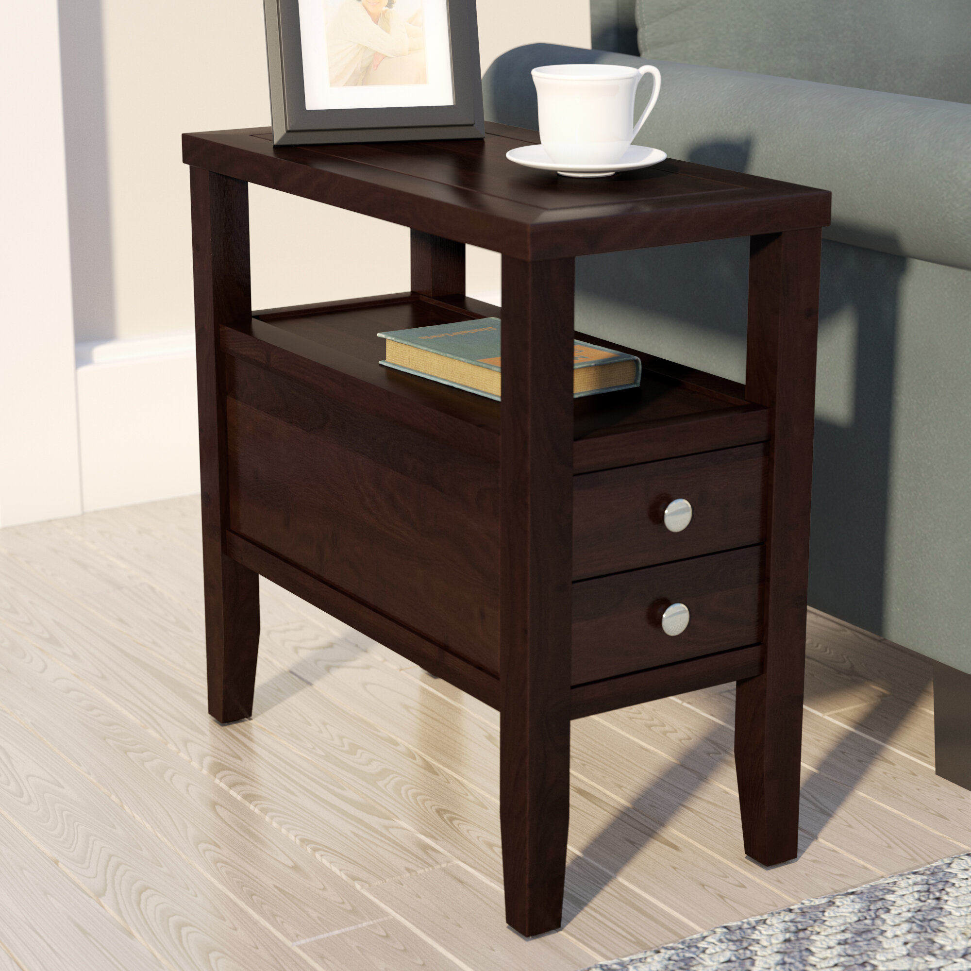 & Andover Mills Gahagan End Table With Storage u0026 Reviews | Wayfair