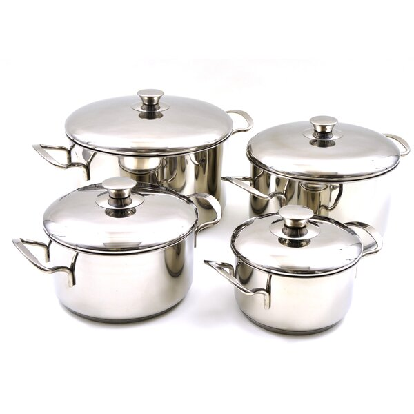 Rainbow Elite Professional Grade 8 Piece Stainless Steel Cookware Set by Nature Home Decor