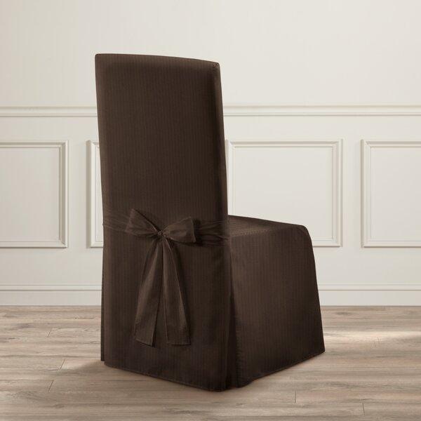 Parson Box Cushion Dining Chair Slipcover By Charlton Home