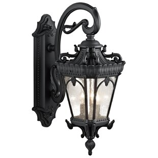 Compare prices Guzzi 3-Light Outdoor Wall Lantern By Fleur De Lis Living