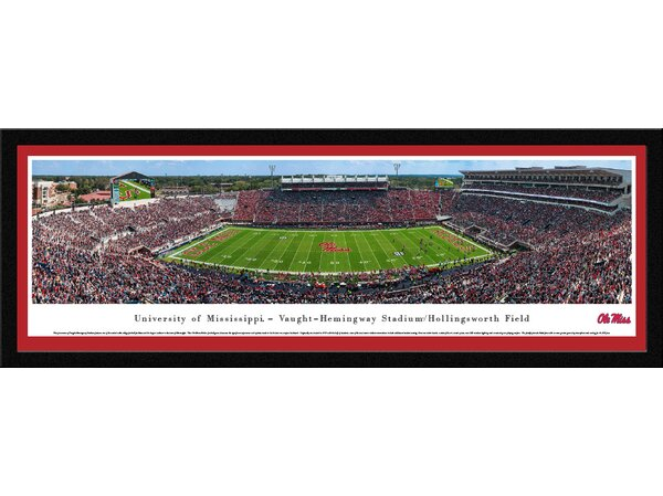 NCAA Mississippi Football Framed Photographic Print by Blakeway Worldwide Panoramas, Inc