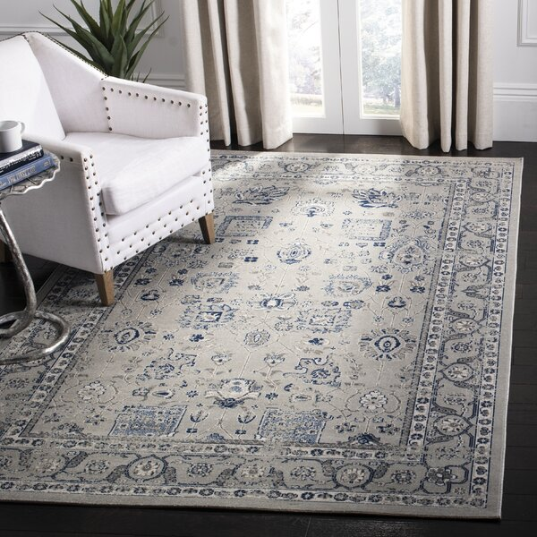 Artisan Power Loomed Blue/Gray Area Rug by Darby Home Co