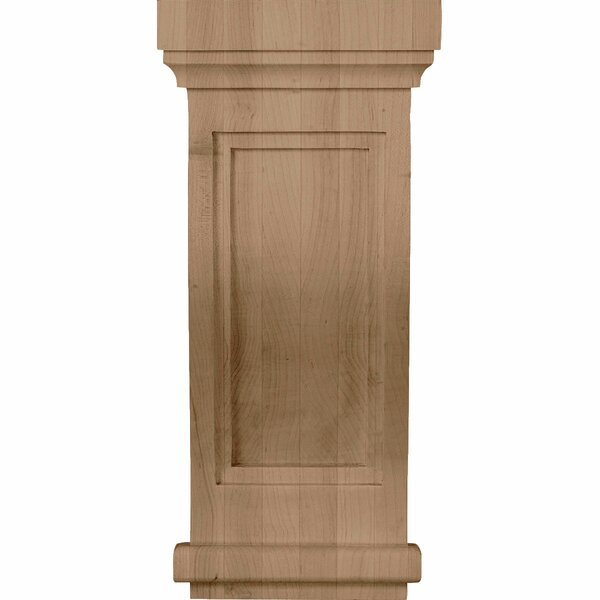 Traditional Recessed 14H x 6 1/2W x 6 1/2D Corbel in Red oak by Ekena Millwork