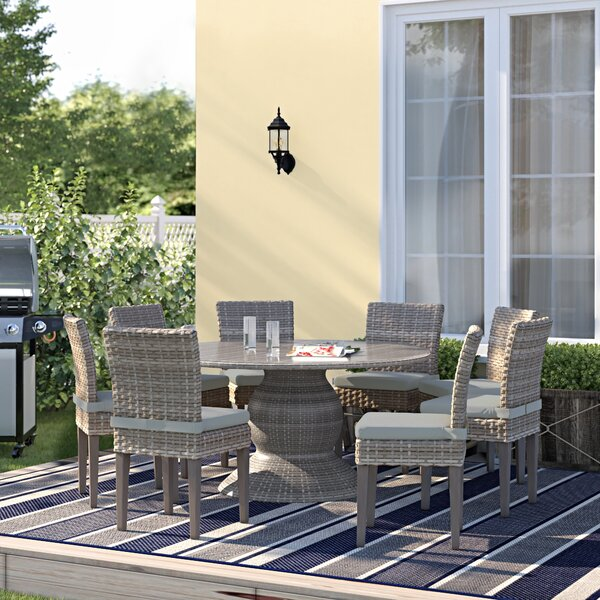 Rockport 9 Piece Dining Set with Cushions by Sol 72 Outdoor