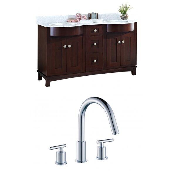 Kester 60 Rectangular Wood-Veneer Double Bathroom Vanity Set by Darby Home Co
