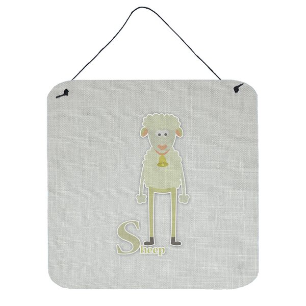 Alphabet S for Sheep Contemporary Wall Décor by Zoomie Kids