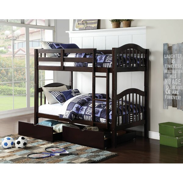 Eady Twin Over Twin Bunk Bed with Drawers by Harriet Bee