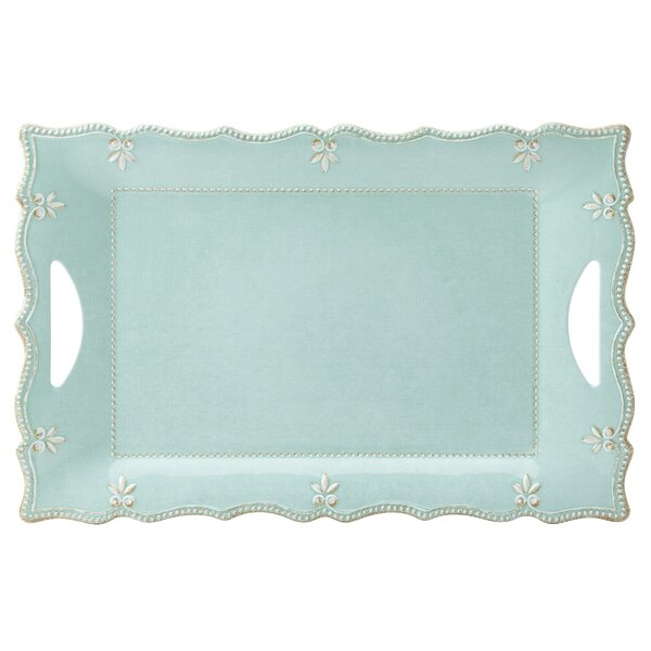 French Perle Rectangular Melamine Platter by Lenox