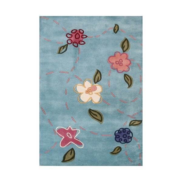 Dane Hand Tufted Wool Blue Haze Area Rug by Harriet Bee