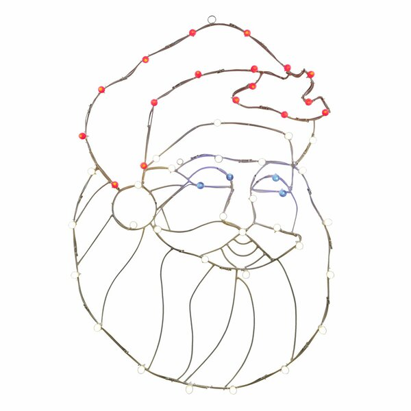 LEDSanta Head C7 Wire Motif by Vickerman