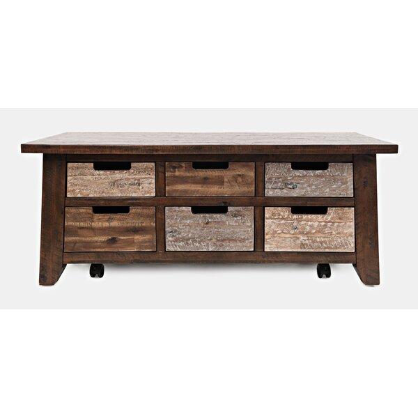 Heritage Hil Solid Woodl Coffee Table with Storage by Loon Peak Loon Peak