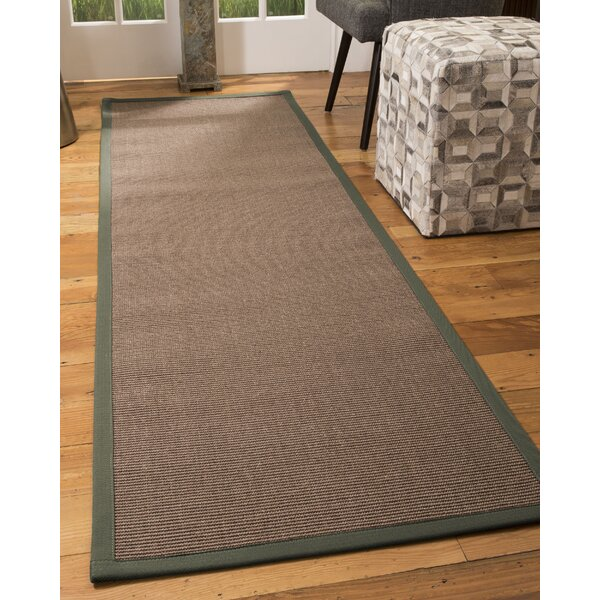Stamm Hand-Hooked Brown Area Rug