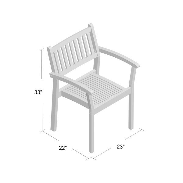 Bedlington Stackable Patio Dining Chair (Set of 2) by Charlton Home
