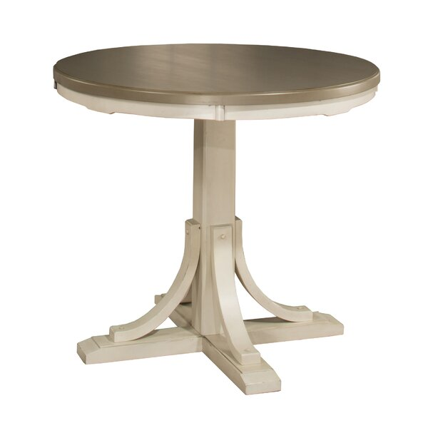 Kinsey Solid Wood Dining Table by Rosecliff Heights