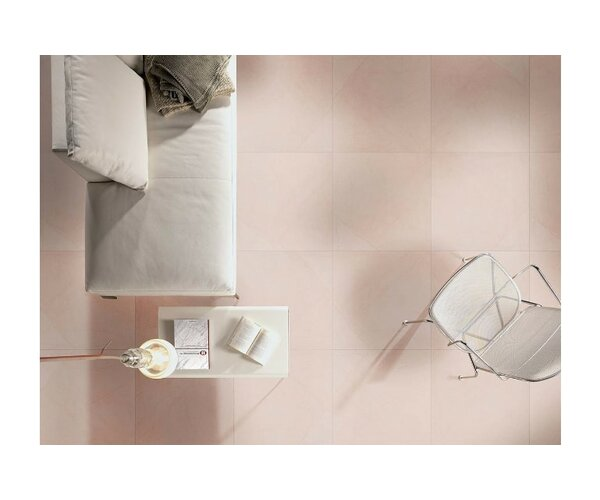 Livingstyle 24x 24 Porcelain Field Tile in Cream by MSI