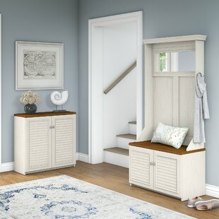 Oakridge Hall Tree With Shoe Bench And Small Storage Cabinet By - Oakridge bedroom furniture