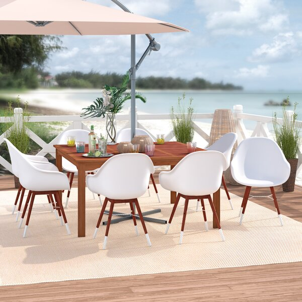 Elsmere Patio 9 Piece Dining Set by Beachcrest Home