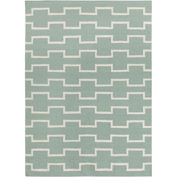 Velasquez Mint Abstract Area Rug by George Oliver