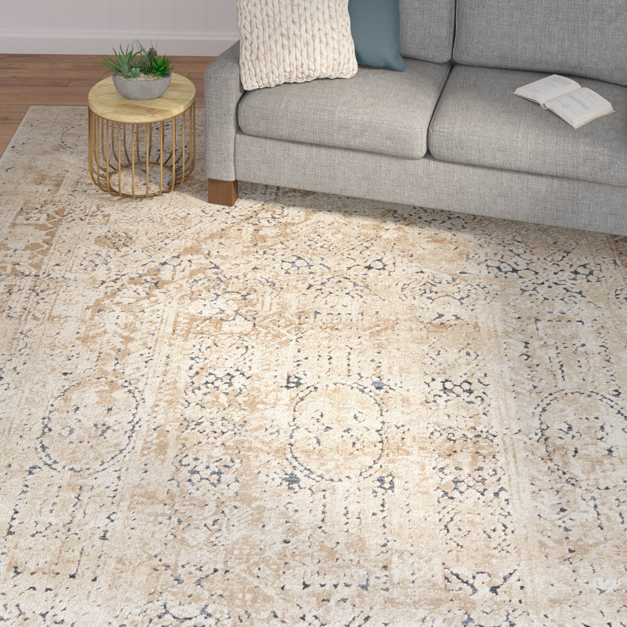 Laurel Foundry Modern Farmhouse Abbeville Beige Area Rug & Reviews ...