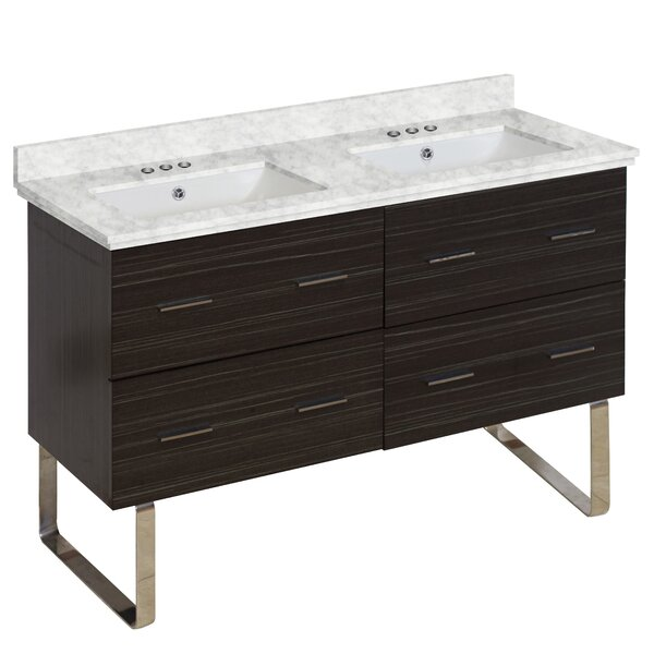Phoebe Modern Drilling Floor Mount 48 Double Bathroom Vanity Set by Orren Ellis