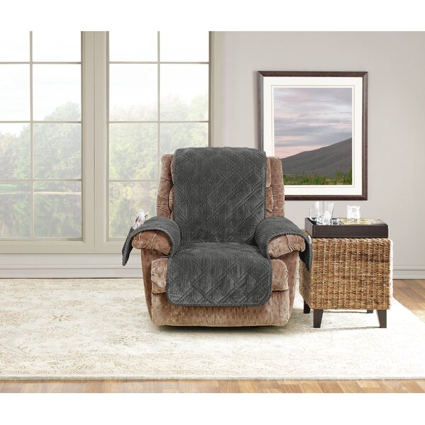Review Wide Wale Box Cushion Recliner Slipcover