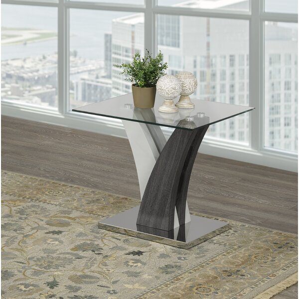 Currier End Table by Orren Ellis