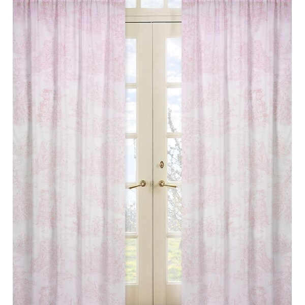Pink Toile Semi-Sheer Rod Pocket Curtain Panel Pair (Set of 2) by Sweet Jojo Designs