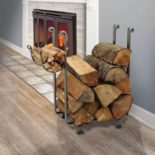 Handcrafted Indoor/Outdoor Rectangular Fireplace Log Rack by Enclume