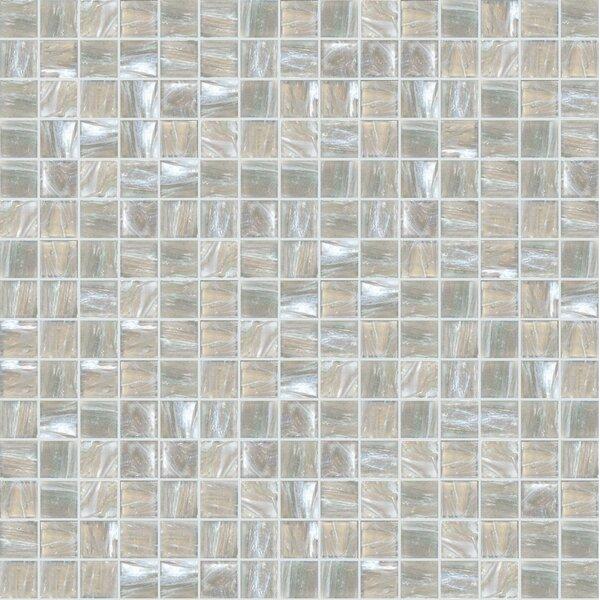 Jewel 13 x 13 Glass Mosaic Tile in Beige/Gray by Mosaic Loft