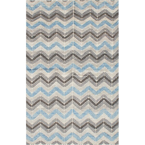 Payton Hand-Knotted Gray/Blue Area Rug by Brayden Studio