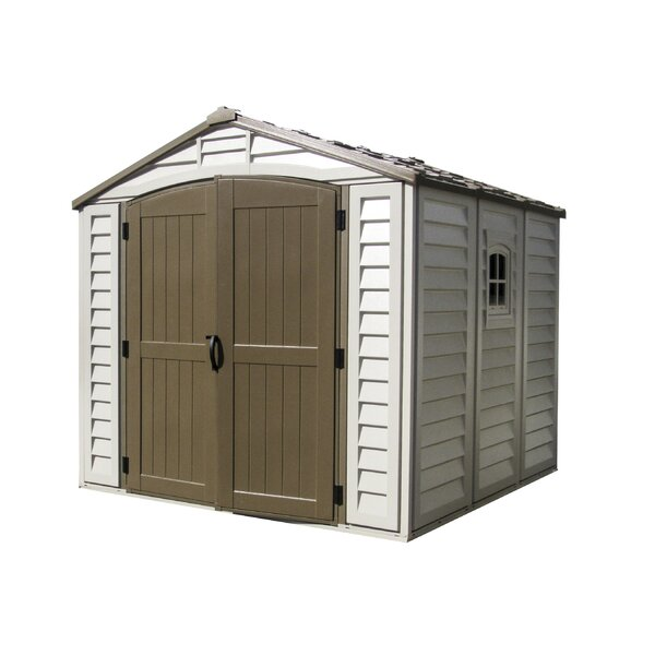 DuraPlus 8 ft. 1 in. W x 8 ft. 1 in. D Plastic Storage Shed by Duramax Building Products