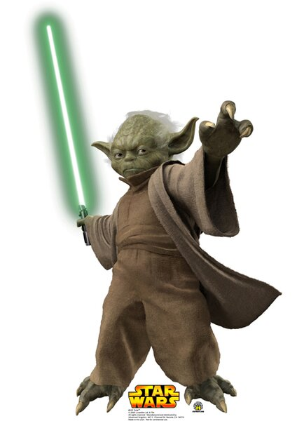 Star Wars Yoda with Lightsaber Cardboard Stand-Up by Advanced Graphics