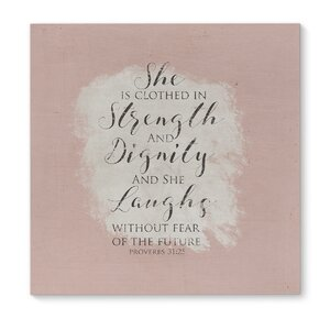 'Strength and Dignity' Graphic Art on Wrapped Canvas by KAVKA DESIGNS