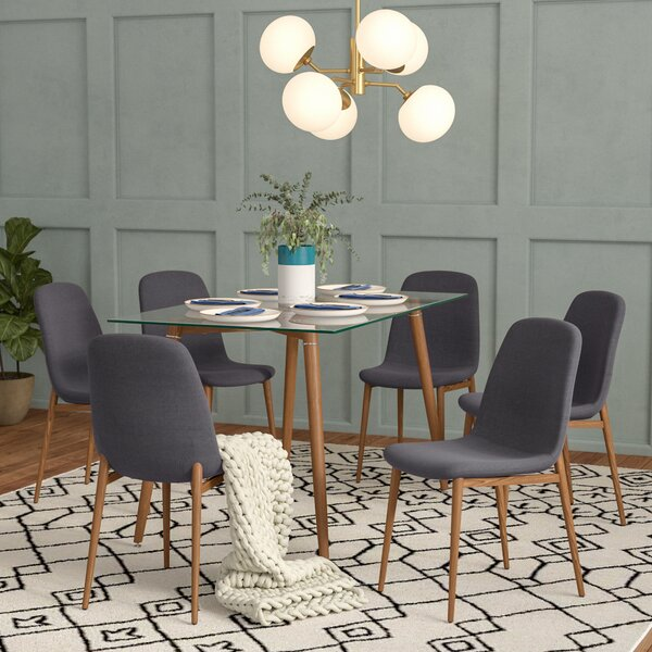 Gramercy Park Modern Glass 7 Piece Dining Set by Brayden Studio