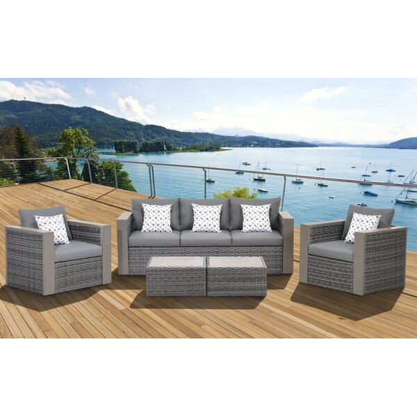 Jalonte 5 Piece Sofa Seating Group with Cushions by Brayden Studio