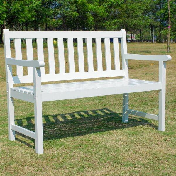 Almaden Wooden Garden Bench by Rosecliff Heights