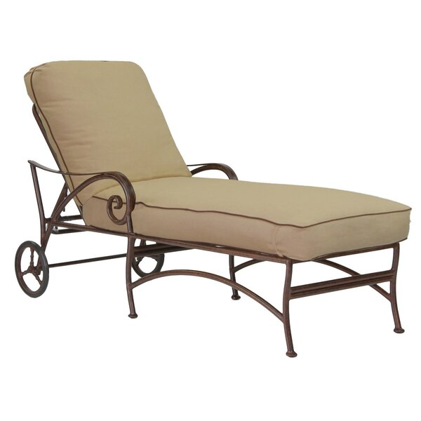 Lucerne Chaise Lounge with Cushion by Leona