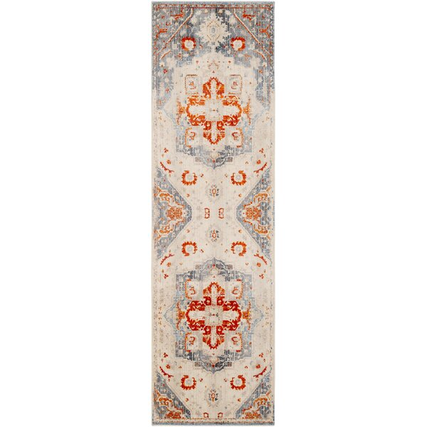Elvis Inspired Distressed Burnt Orange/Bright Red Area Rug by Charlton Home