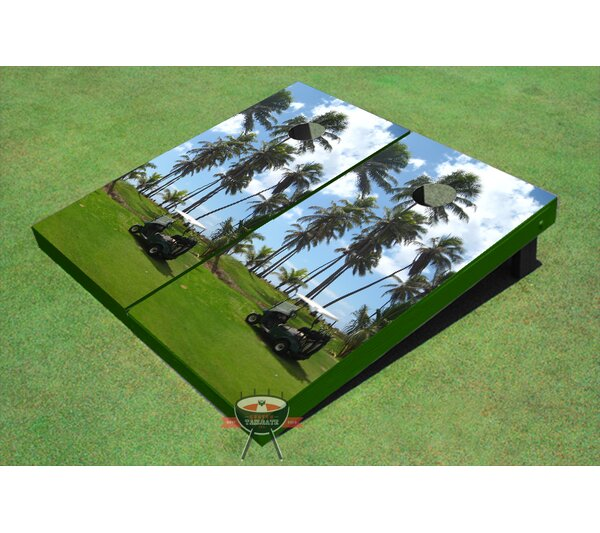 Golf Palm Trees Cornhole Board (Set of 2) by All American Tailgate