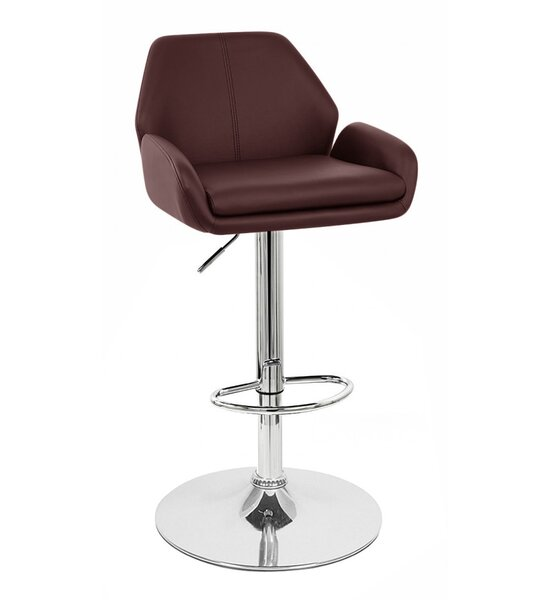 Tesla Adjustable Height Swivel Bar Stool By Vandue Corporation